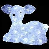 DECORACIÓN DE NAVIDAD: Reno luminoso - Efecto escarcha - 56 bombillas LED Blancas