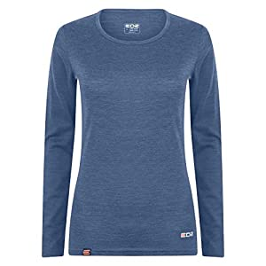 51FfUYK7OtL. SS300  - EDZ 200g Merino Womens Long Sleeve Scoop Neck Top