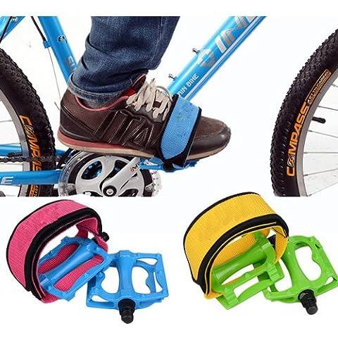 Bici fija del engranaje de la bicicleta pedales bandas de refuerzo Band.