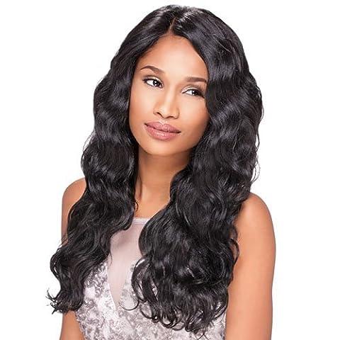 Sensationnel Empress Custom Lace Front Edge Wig - Body Wave (1 - Jet Black) by Hair Zone