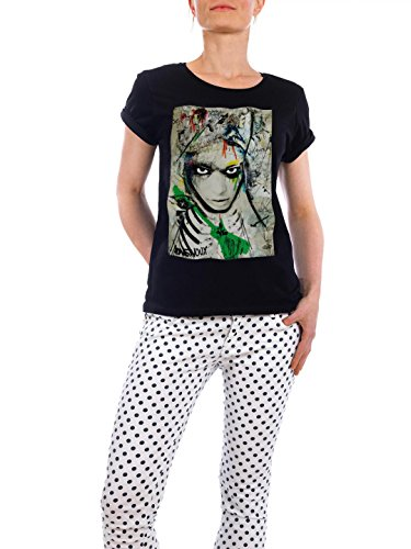 "Design T-Shirt Frauen Earth Positive ""nothernstar"" - stylisches Shirt Abstrakt von Sandrine Pagnoux Schwarz"