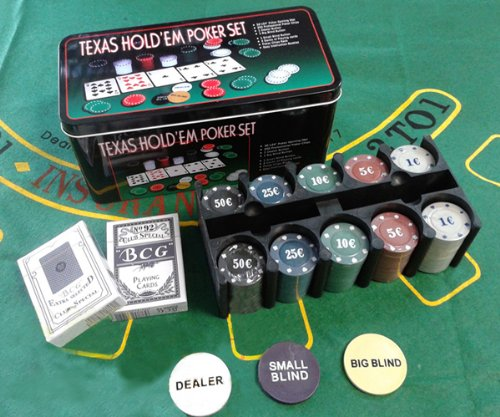 TEXAS HOLD \'EM UP POKER PLAYING SET - CASINO GAMES