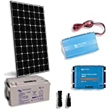 Kit Solar Cabina Lux 300W 12V Placa Inversor 1000W Regulador Bateria 130Ah