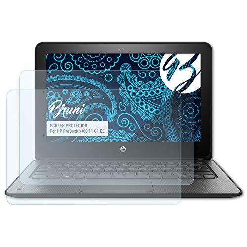Bruni Schutzfolie für HP ProBook x360 11 G1 EE Folie, glasklare Bildschirmschutzfolie (2X)