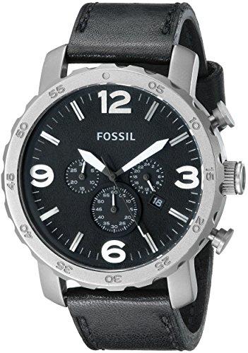 Fossil Herren-Armbanduhr XL Chronograph Quarz Leder TI1005