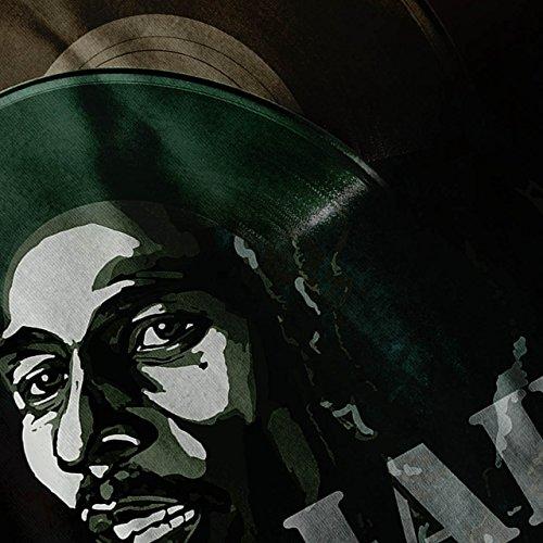 Jah Marley Musik Rasta Jah Sänger Damen S-2XL Muskelshirt | Wellcoda Schwarz