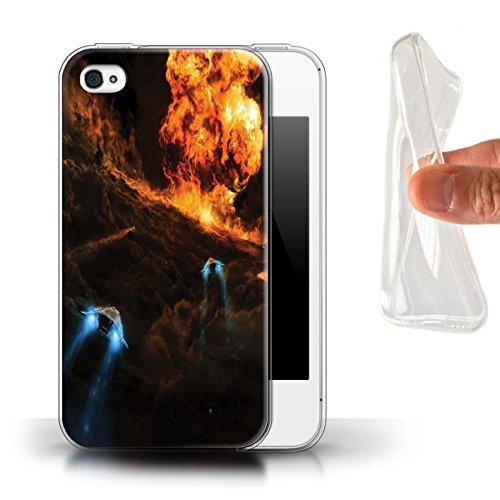 Offiziell Chris Cold Hülle / Gel TPU Case für Apple iPhone 4/4S / Pack 12pcs Muster / Fremden Welt Kosmos Kollektion Chaos Entfesselt