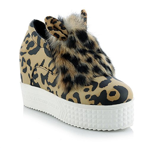 Pull pelle Multicolore pompe On Leopardato da piedi Scarpe BalaMasa Round donna in Imitated qEpwxC