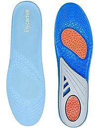 Dycarfell Bequeme Einlegesohlen ideal für Sport und Korrigiert - Optimale Dämpfung - Anti Schockwellen - Effektiv Reduzieren Fußschmerzen und Fasziitis