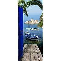Plage Vinilo de decoración para puertas -Vistas sobre el mar, 204 x 83 cm