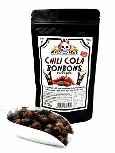 Chili Cola Bonbon - Cola Kugel- zuckerfrei- xtra scharf - 200g RED DEVILS TASTE