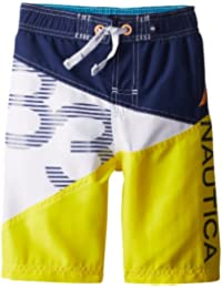 Nautica Big Boy's Sail 83 Color Blocked Swim Trunk