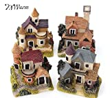 1 Pc Cute Mini Resin House Miniature House Fairy Garden Micro Landscape Home Garden Decoration Resin Crafts