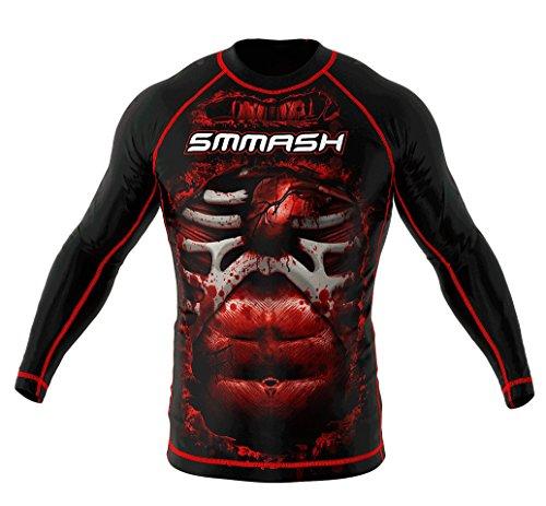 SMMASH Rashguard BLOOD 3.0 manica lunga S M L XL XXL XXXL MMA BJJ UFC sport di combattimento (M)