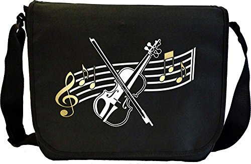 Viola Curved Stave - Sheet Music Document Bag Musik Notentasche (Outfit Dirigent)