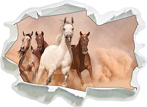 cavalli occidentali nel deserto, di carta 3D della parete di formato: 92x67 cm decorazione della parete 3D Wall Stickers murali Stickers