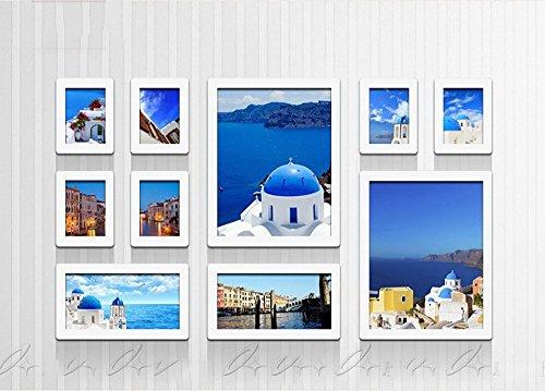 10 multi-photo cadre photo mur en bois photo cadre combo canapé mur décoratif peinture vert photo cadre Cadeaux européens ( Style : Rectangle )