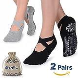 Ozaiic Femme Chaussettes de Yoga, Chaussettes Antiderapantes pour...
