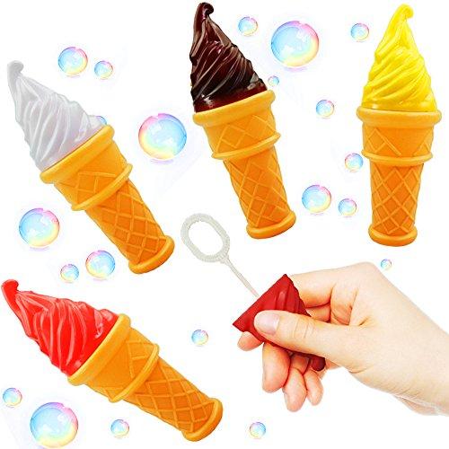 German Trendseller® - 6 x Magische EIS - Seifenblasen ┃ NEU ┃ Party Bubbles für Kinder ┃ Mitgebsel ┃ Kindergeburtstag ┃ 6 Stück -