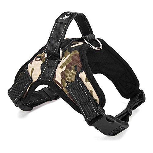 Hundegeschirr gepolstert Brustgurt Heavy Duty mit Griff Hund Training Walking Brustgurt Camouflage/Schwarz M/L (Heavy-duty-griff)
