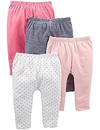 Simple Joys by Carter's pantalón para niñas pequeñas, paquete de 4