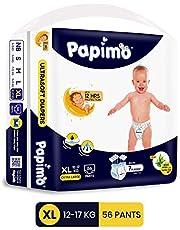 Papimo Diaper Pant, X-Large, Blue, 56 Count