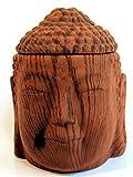 Feste Feiern Aromalampe Duftlampe Diffusor I Scentchips Buddha Heat Dark Wood Vintage I Braun Matt Duftwachs Duftöl Waxtards