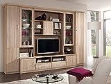 immagine prodotto AVANTI TRENDSTORE - Vill - Parete da soggiorno in quercia Sonoma d'imitazione con illuminazione LED comprese, ca. 290x210x50cm