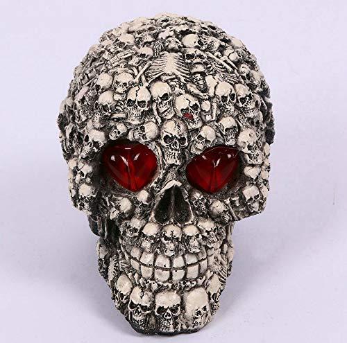 Halloween Horror Deko Requisiten, Großer Totenkopf Mit Kleinem Totenkopf Muster Und Augenlichter, Cooles Aussehen Ist Am Besten Für Die - Am Besten Gruselige Kostüm