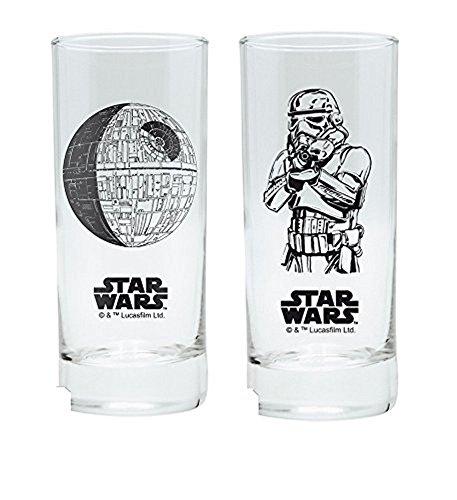 Star Wars - Trinkgläser 2er Set 300 ml - Episode 4-6 - Stormtrooper - Todesstern (Disney Glas-krug-set)