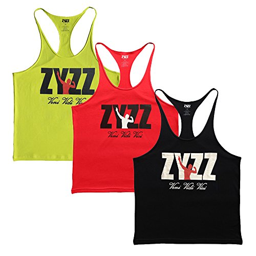 Musclealive Herren Bodybuilding Zyzz Mode Tank Tops Baumwolle (Works Kleidung Athletic)