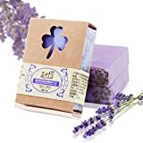 Shampoo Bar Natural,Plant Essential Oil-100g Pure Natural Tea Tree Essential Oil Handmade Soap for Facial and Body Bar Bath Soap (Moisturizing, Cleansing, Soothing) (Lavender)
