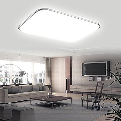 Hengda® 96W LED Eckig Deckenlampe Leuchte 8640LM Weiß IP44 Badezimmer geeignet Deckenleuchte Wohnzimmer 85V-265V