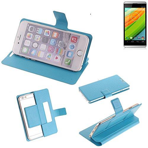 K-S-Trade Flipcover für Hisense HS-U980BE-2 Schutz Hülle Schutzhülle Flip Cover Handy case Smartphone Handyhülle blau
