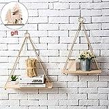 Estanterías flotantes 2 piezas de decoración de la pared Bastidores de honda Estante para almacenamiento de macetas Estante nórdico de la pared del tablero colgante Adornos colgantes