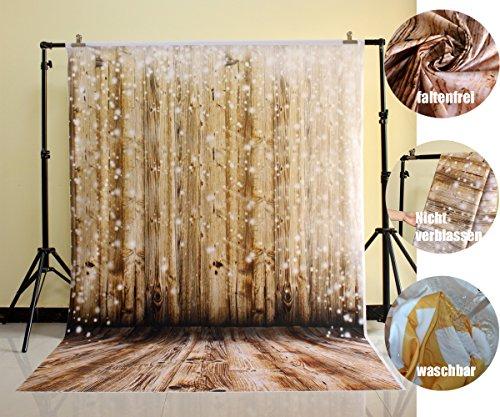 NIVIUS PHOTO 150x220cm Waschbare Baumwolle Polyester Wasserdicht Weihnachten Holzboden Fotografie Hintergrund Fotostudio Familie Neugeborenen Pet Geschenke Dekoration Requisiten XT-2661 (Photo Booth Hintergrund)