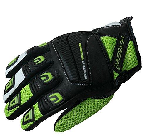 Heyberry Motorrad Handschuhe Motorradhandschuhe Sommer schwarz neon Gr. XL
