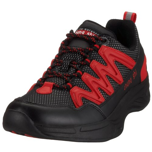 Chung Shi Herren Comfort Step Magic Walkingschuhe, Schwarz/Rot, 42 EU