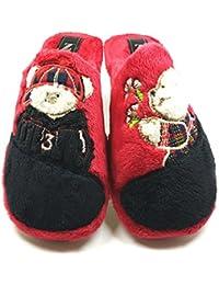 Desconocido Zapatillas casa invierno mujer cómodas calientes suaves piso pluma ligero pantuflas confort calidad diseño y
