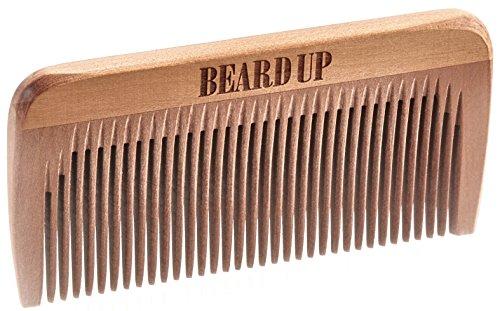 Beard Up Bartkamm 8,5cm Fein I Optimale Bartpflege, Bartöl Auftragen I Handlich, perfekter Look unterwegs I Antistatisch, Kamm, E-Book