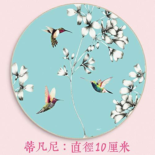 Untersetzer Isolieruntersetzer rund chinesischer Stil 4 Stück, Tiffany (4 Pieces, x