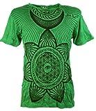 Guru-Shop Sure T-Shirt `Das Dritte Auge` - Grün, Herren, Baumwolle, Size:L, Bedrucktes Shirt Alternative Bekleidung