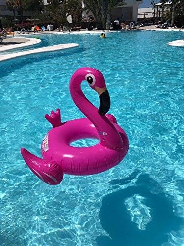 Riesiger aufblasbarer Flamingo Schwimmring Luftmatratzen. Aufblasbarer Flamingo Luftmatratze Pool Floß Durch Integrity Co - 4