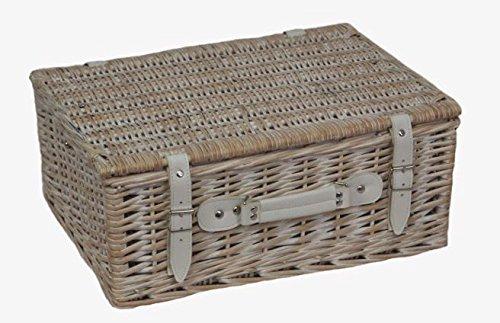 30cm-Tiefe Waschen weiß leer Picnic Basket