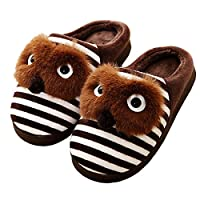 Kids Winter House Slipper Cartoon Home Shoes Plush Warm Slippers (Toddler/Little Kid)