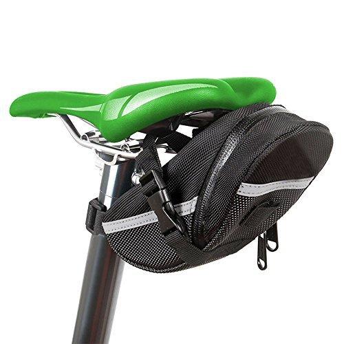 Bike Seat Pack, Jspoir Waterproof Mountain Bicycle Rear Seat Pack, Bike Saddle Bag / Handlebar Bag / Strap-on Bag / Toolkit, Black