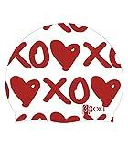Bbosi Badekappe Silikon Herz XOXO Unisex Mann Und Frau Erste Qualität Triathlon Duathlon Pool