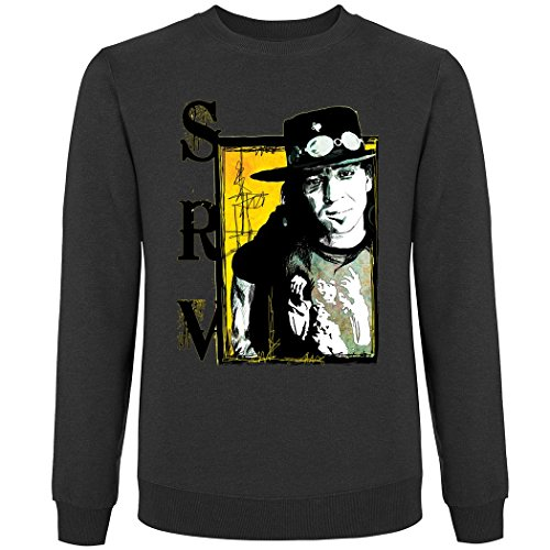 Pushertees - Crew neck Pullover Unisex Anthracite LTB-79 little bastard steve ray chitarrista Blaues stratocaster texas SRV (Crew Texas Sweatshirt)