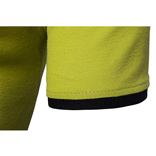 Veravant Herren Poloshirt Uni kurze Ärmel Gelb Grün Schwarz tshirt polo Gelb