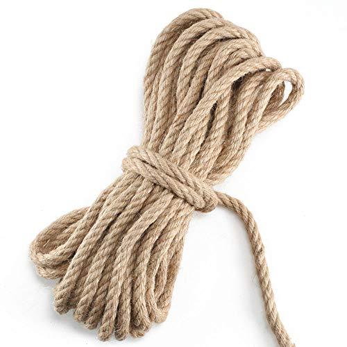 NACTECH Cuerda Yute Gruesa Resistente Cuerda Cáñamo